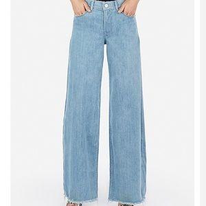 Express high waist wide leg jeans
